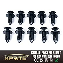 Xprite Grille Fastener Rivet Push Pin Clips Retainer for 2007-2016 Jeep Wrangler (10 Pieces)
