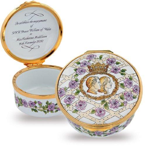 Halcyon Days - Enamel Trinket Box - Prince William & Catherine Engagement