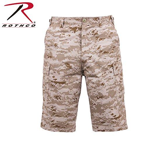 Desert Camo Military Shorts - Rothco Longer Style BDU Short, Desert Digital Camo, X-Large
