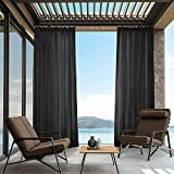 cololeaf Premium Pinch Pleat Sheer Curtains Indoor Outdoor For Living Room | Bedroom | Kidsroom | Classroom| Hotel - Black 100'' W x 96'' L (1 Panel)