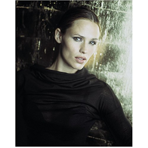 (Alias 8x10 Photo Jennifer Garner Black Cowl Neck Top Back Against the Wall Looking Right kn)