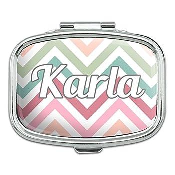 Rectangle Pill Case Trinket Gift Box Names Female Ka-Kar - Karla