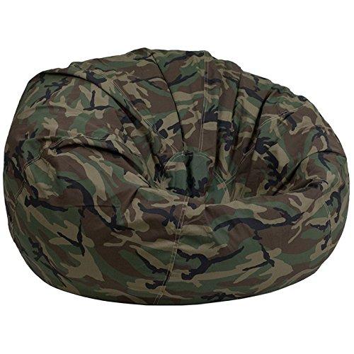 Flash Furniture Oversized Camouflage Kids Bean Bag Chair (Camouflage Bean Bag)