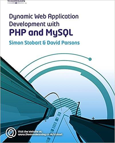 Dynamic Web Application Development Using Php And Mysql Pdf