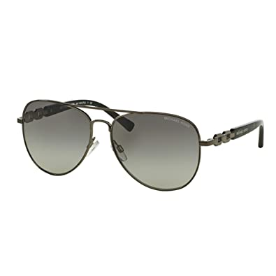 f7f69775b9d Image Unavailable. Image not available for. Color  Michael Kors Fiji  Sunglasses MK1003 100211 Gunmetal Grey Gradient ...