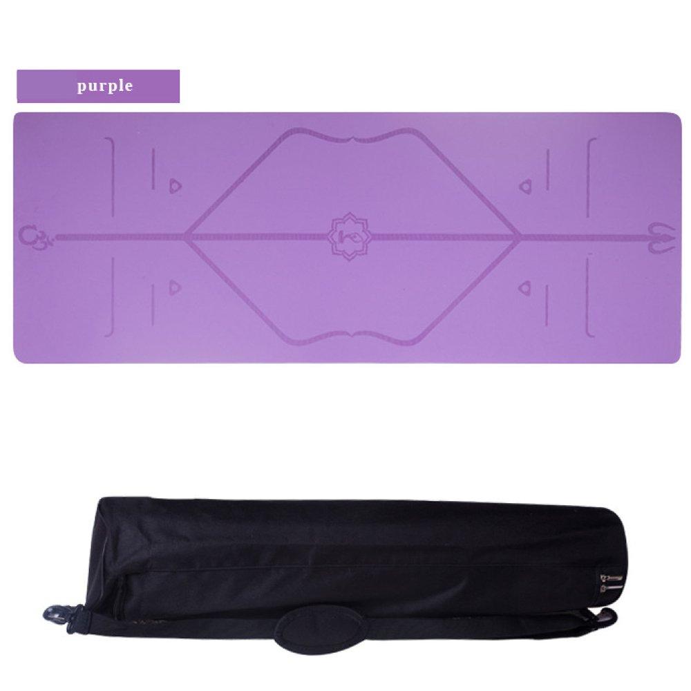 violet  ANHPI Tapis De Yoga en Caoutchouc Eco Friendly 5mm épais avec Sangle De Transport Doux Non-Slip Fitness Gym Aérobie Pilates Tapis De Camping,rose