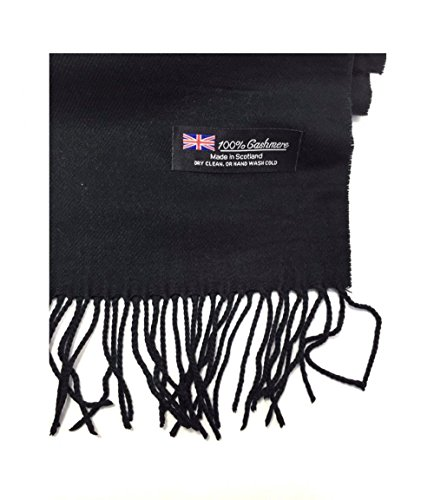Black_(US Seller)Scarf Unisex New Fashion (Solid) Scotland Made (Queen Mary In Long Beach Halloween)