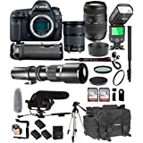Canon EOS 5D Mark IV With 24-105mm f/3.5-5.6 IS STM + Tamron 70-300mm f/4-5.6 Di LD + 500mm Telephoto + 128GB Memory + Pro Battery Bundle + Power Grip + TTL Speed Light + Pro Filters,(25pc Bundle)