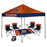NCAA Hall of Fame Tailgate Bundle - Auburn University (1 9x9 Canopy, 4 Kickoff Chairs, 1 16 Can Cooler, 1 Endzone Table)