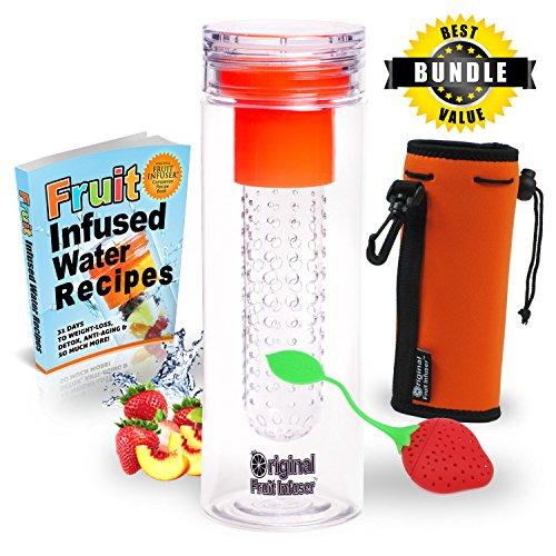 Original Fruit Infuser Water Bottle Bundled Set