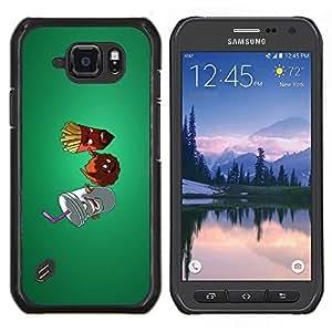 Caucho caso de Shell duro de la cubierta de accesorios de protección BY RAYDREAMMM - Samsung Galaxy S6Active Active G890A - Patatas fritas comida chatarra dieta saludable estilo de vida