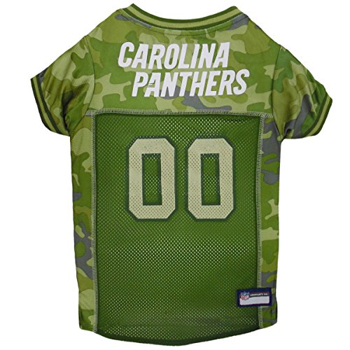 NFL Carolina Panthers Camouflage Dog Jersey, X-Large. - CAMO PET Jersey Available in 5 Sizes & 32 NFL Teams. Hunting Dog Shirt]()