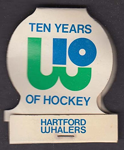 Rein's Deli Vernon CT Hartford Whalers 10th Anniversary matchbook 1981 by The Jumping Frog