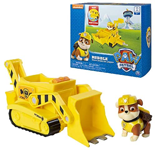 Paw Patrol, Rubble's Transforming Bulldozer with Pop-Out Tools, for Ages 3 & Up -