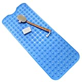 Product review for Bathroom Bath Shower Mat Vinyl Material Extra Long 39 x 15.5 Inches (Blue)