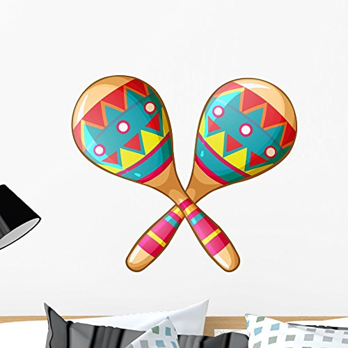 - Wallmonkeys Festive Maracas Wall Decal Peel and Stick Graphic (24 in W x 21 in H) WM335248
