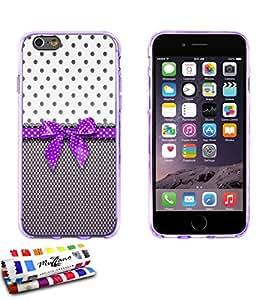 Carcasa Flexible Ultra-Slim APPLE IPHONE 6 PLUS 5.5 POUCES de exclusivo motivo [Pin up purpura] [Violeta] de MUZZANO  + ESTILETE y PAÑO MUZZANO REGALADOS - La Protección Antigolpes ULTIMA, ELEGANTE Y DURADERA para su APPLE IPHONE 6 PLUS 5.5 POUCES
