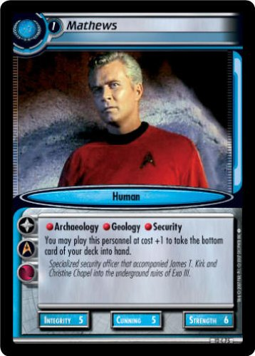 STAR TREK CCG 2E TATV VOYAGES MATHEWS 12C75 Decipher