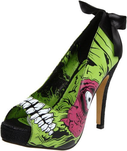 Iron Fist Women's Zombie Stomper Platform Pump,Green/Black,7 M US