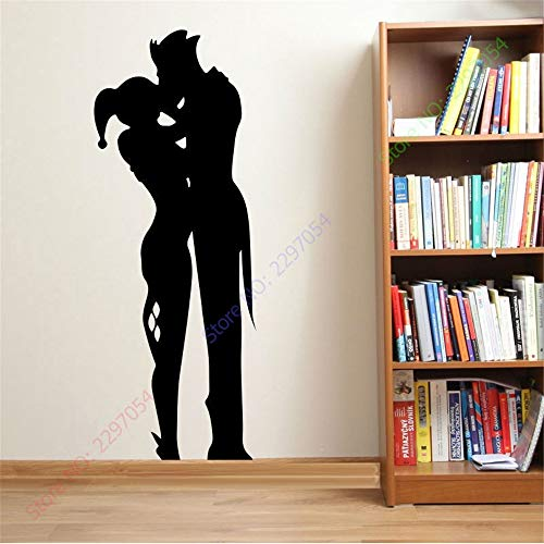 Seois Vinyl Wall Sticker Decal Quote Home Decor Harley Quinn and The Joker Sticker Decal Wall Room Sticker