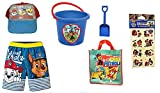 Paw Patrol Toddler Boys Swim Trunks Baseball Cap Beach Toys Plus Tote Bag Size 3T