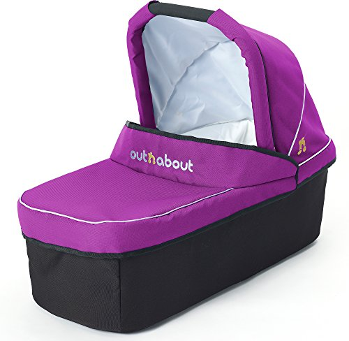 Out 'N' About Nipper Carry Cot - Purple Punch