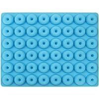 HONGSHAN molde para rosquillas de silicona, molde antiadherente, molde para rosquillas de silicona para 48 rosquillas…