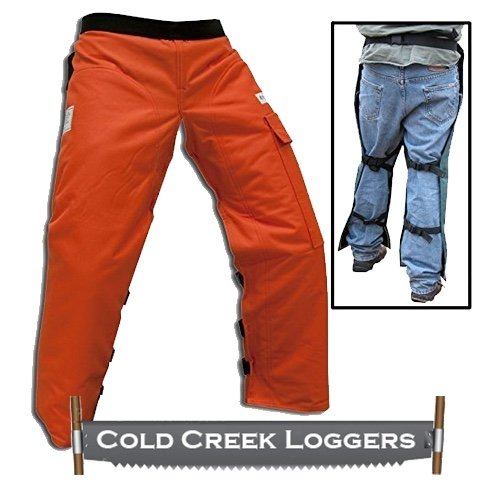 Cold Creek Loggers Chainsaw Apron Safety Chaps Pocket (37', Orange)