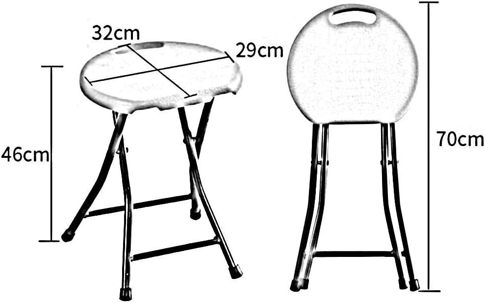 JIEER-C chaises de Loisirs en Plastique Pile Maison Tabouret Pliant Tabouret Rond Pliable dortoir Salle de Jeux Salle de Jeux Durable Solide Yellow