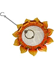 POPETPOP Wild Bird Feeder Sunflower Metal Element Hanging Bird Feeder Patio Lawn and Garden Hanging Decoration