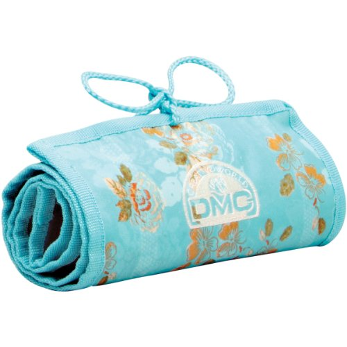 DMC U1637 Stitchbow Floral Needlework Roll, Light Blue