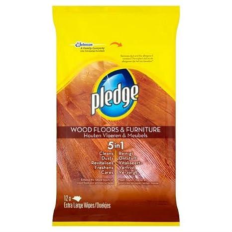 Pledge toallitas húmedas madera y suelos muebles 12 unidades por paquete, de 5: Amazon.es: Hogar