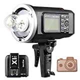 Godox HSS AD600BM Bowens Mount 600Ws GN87 High Speed Sync Outdoor Flash Strobe Light with X1T-N X1N Wireless Flash Trigger, 8700mAh Battery Pack to Provide 500 Full Power Flashes for Nikon