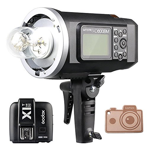 Godox HSS AD600BM Bowens Mount 600Ws GN87 High Speed Sync Outdoor Flash Strobe Light with X1T-N X1N Wireless Flash Trigger, 8700mAh Battery Pack to Provide 500 Full Power Flashes for Nikon Bowens Flashtube