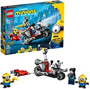 LEGO Minions Unstoppable Bike Chase (75549) Minions Toy Building Kit, with Bob, Stuart and Gru Minion Figures,