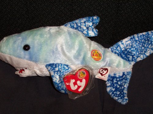 TY Beanie Baby - CHOMPERS the Shark (BBOM August 2004) [Toy] (Shark Beanie Baby)