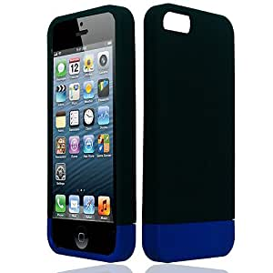 Black Blue Hard Cover Case for Apple iPhone 5