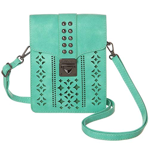 MINICAT Women RFID Blocking Small Crossbody Bags Cell Phone Purse Wallet With Credit Card Slots (Light Green-Thicker)