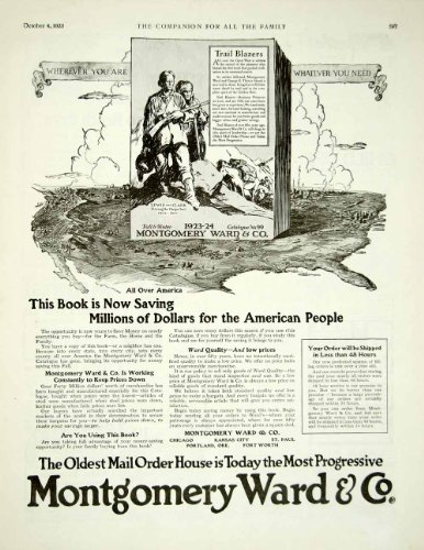 1923 Ad Montgomery Ward No 99 Mail Order Catalog Department Store Lewis & Clark - Original Print Ad