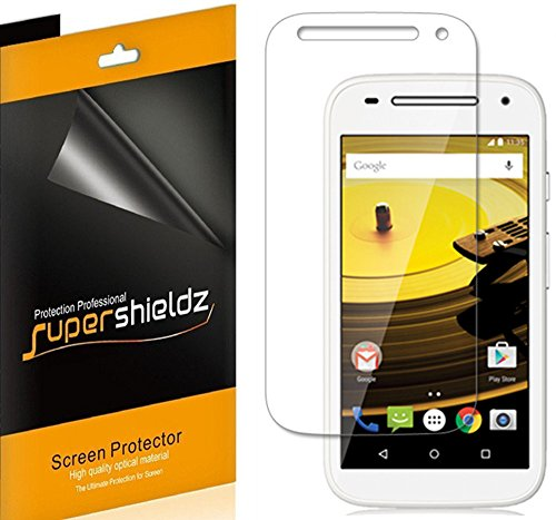 [6-Pack] Supershieldz Anti-Bubble High Definition Clear Screen Protector for Motorola Moto E (2nd Gen) / Moto E 2nd Generation 4G LTE + Lifetime Replacements (4g Lte Accessories)
