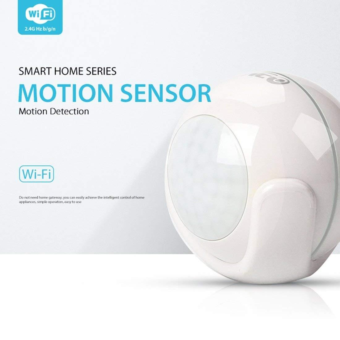Sensor inteligente de automatización del hogar NEO WiFi PIR Sensor de movimiento Sistema de control inteligente para el hogar No se requiere un concentrador ...