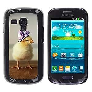 Be Good Phone Accessory // Dura Cáscara cubierta Protectora Caso Carcasa Funda de Protección para Samsung Galaxy S3 MINI NOT REGULAR! I8190 I8190N // Cute Baby Duckling