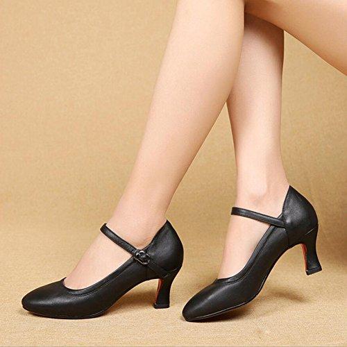 En Similicuir Soirée Bal Talon Partie C Chaussures Salle Femmes Rouge Modernes Xue Boucle 33 Et De chaussures argent couleur or Évasé Danse C Taille xzaYqw0xU8