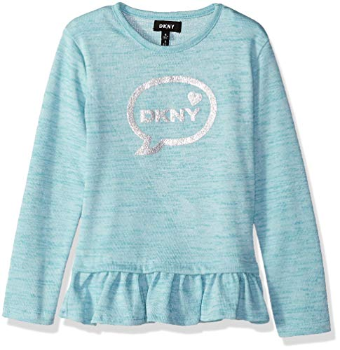 DKNY Girls Long Sleeve Bubbles Message Top
