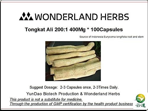 Pasak Bumi / LONGJACK / TONGKAT ALI PURE ROOT 200:1 EXTRACT Powder 400 x 100 (Herbs 1g 100 Capsules)