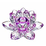 flower crystal - Amlong Crystal Hue Reflection Crystal Lotus Flower with Gift Box, Purple, 3-Inch
