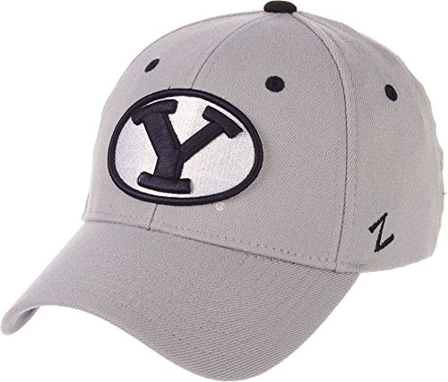Zephyr Men's BYU Cougars Grey Wool Fitted Hat (Small)