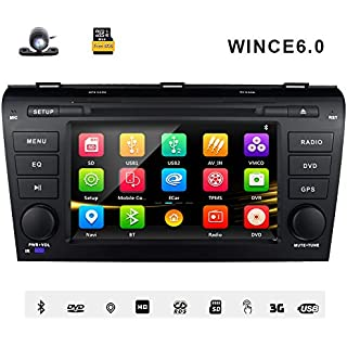 Sale Off 7 Inch Car Stereo Radio GPS Navigation System DVD Player Double Din In Dash HD Touch Screen Head Unit For Mazda 3 2004 2005 2006 2007 2008 2009 Support Navi Bluetooth SD USB FM/AM Radio 3G DVD 1080P