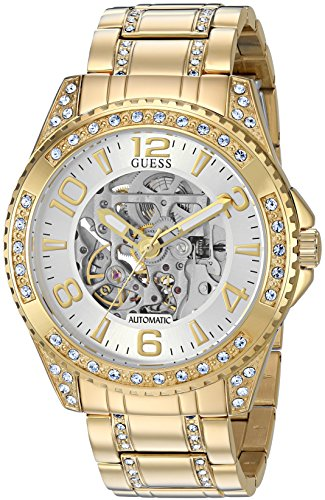 GUESS-Mens-Automatic-Stainless-Steel-Casual-Watch-ColorGold-Toned-Model-U1076G2