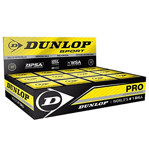 2 opinioni per Dunlop- Palline da squash professionali, confezione da 12